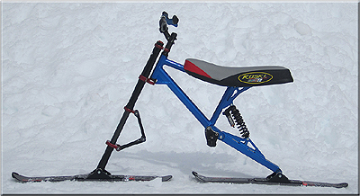 Bike Skis to be ridden w foot skis
