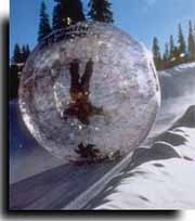 Zorbing on a Ski Slope